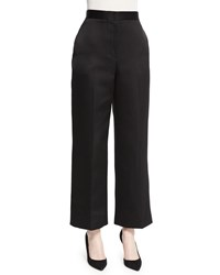 The Row Resme Wide Leg Cropped Pants Black Size 14