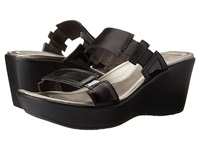 Naot Footwear Treasure Black Madras Leather Black Patent Leather Women's Sandals