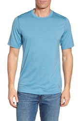Ibex Men's 'All Day Weightless Wool Blend' T Shirt Harbor
