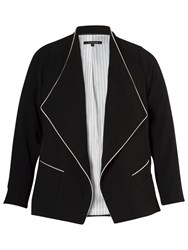 Chesca Contrast Piping Trim Jacket Black