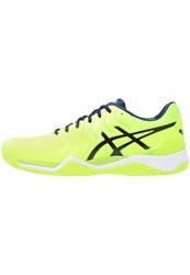 Asics Gelresolution 7 Clay Outdoor Tennis Shoes Safety Yellow Indigo Blue White Neon Yellow