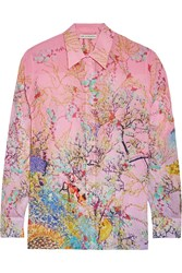 Mary Katrantzou Gala Printed Silk Georgette Shirt Pink