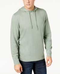 Club Room Men's Jersey Hooded Shirt Created For Macy's Hedge Green
