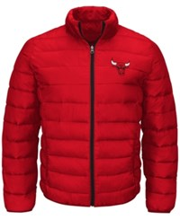 G3 Sports Men's Chicago Bulls Skybox Packable Quilted Jacket Red Black