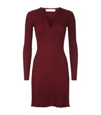 Sandro Day Lace Up Dress Female Burgundy
