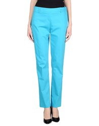 Angelo Marani Trousers Casual Trousers Women Turquoise