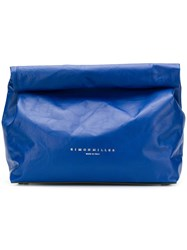Simon Miller Wide Loose Clutch Bag Blue