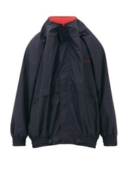 Y Project Logo Embroidered Technical Shell Jacket Dark Navy