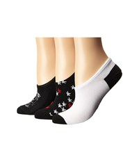 Converse 3 Pack Made For Chucks Magic Patch Black White Multi Black Multi Women's No Show Socks Shoes