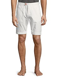 Psycho Bunny Textured Cotton Shorts White