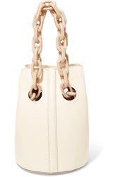Trademark Goodall Leather Bucket Bag Off White