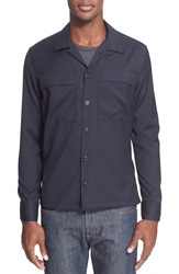 Todd Snyder Extra Trim Fit Shirt Jacket Navy