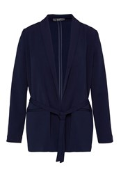 Hallhuber Shawl Collar Blazer With Belt Blue