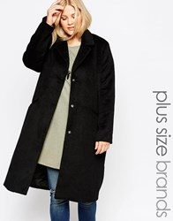 Brave Soul Bravesoul Plus Fitted Coat Black