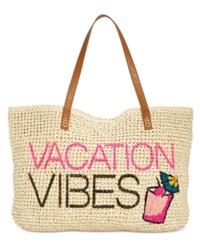 Inc International Concepts Mimi Vacation Vibes Tote Created For Macy's Tan