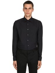 Eton Stretch Fine Cotton Twill Shirt Black