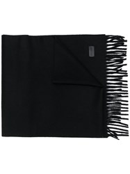 Saint Laurent Fringed Scarf Black