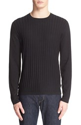 Men's Armani Collezioni Ribbed Crewneck Sweater