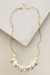 Anthropologie Field Necklace Ivory