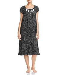 Eileen West Cap Sleeve Waltz Nightgown Black