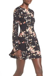 Women's Love Sadie Long Sleeve Print Fit And Flare Dress