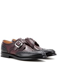 Church's Pattie Glossed Leather Brogues Red