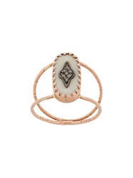 Pascale Monvoisin 9Kt Rose Gold Mahe White Ring 60