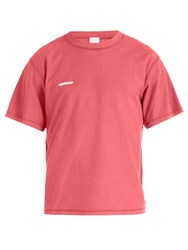 Vetements Inside Out Cotton T Shirt Pink