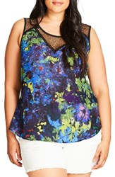 City Chic Plus Size Women's Top Peacock