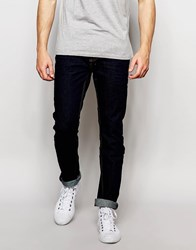 Bellfield Dark Tapered Slim Fit Jeans Blue