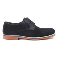 Menlook Label Navy Suede Derbies