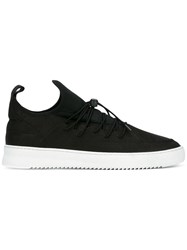 Filling Pieces Elastic Lace Up Sneakers Black