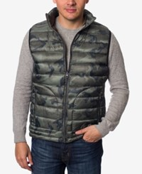 Buffalo David Bitton Men's Quilted Dot Vest Green