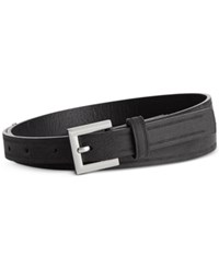Styleandco. Style And Co. Grooved Panel Belt Only At Macy's Black