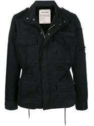 Zadig And Voltaire Grunge Parka Coat Black