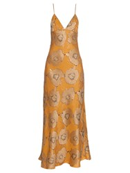 Brock Collection Dehli Floral Jacquard Slip Dress