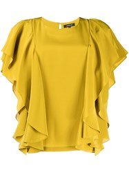 Barbara Bui Ruffled Top Yellow