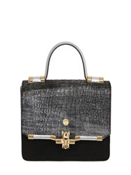 Trussardi Suede And Embossed Ponyskin Bag For Lvr