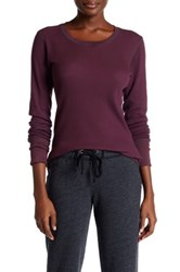 Allen Allen Long Sleeve Thermal Knit Tee Purple