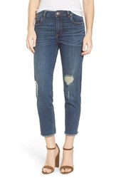 Sts Blue Women's Fray Hem Straight Leg Jeans