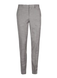 Topman Mid Grey Grey Marl Ultra Muscle Fit Suit Trousers