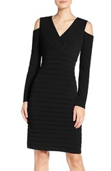 London Times Women's Cold Shoulder Sheath Dress