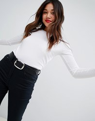 New Look Top With Long Sleeves In White