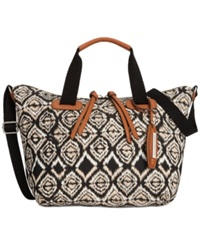 Sanctuary Bodega Canvas Satchel Diamond Batik Print