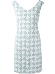 Tory Burch Crochet Overlay Dress White