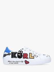 Karl Lagerfeld Skool Leather Lace Up Trainers White
