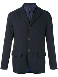 Canali Buttoned Jacket Blue