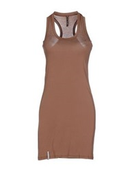 Manila Grace Short Dresses Khaki
