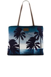 Seafolly Carried Away Tropics Tote Navy