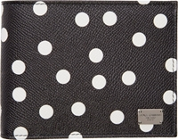 Dolce And Gabbana Black And White Polka Dot Wallet